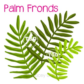 Palm Fronds Original Art, Set of 3 Printable Tracey Gurley Designs