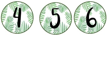 Palm Leaf Numbers