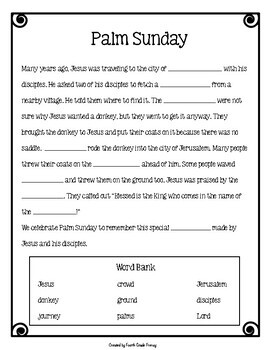Palm Sunday Activity