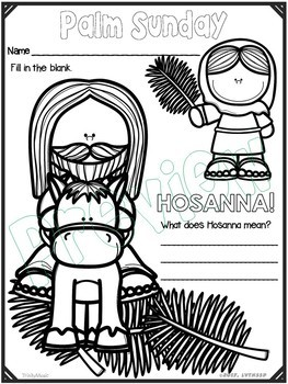 Palm Sunday Coloring Handouts (Worksheets)