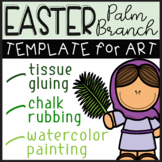 Palm Sunday Easter Art Template Palm Branch for Coloring P