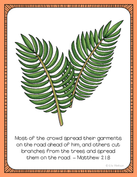 Palm Sunday Easter Poster, Class Decor, Holiday Sign, Bulletin Board