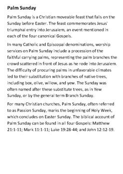 Palm Sunday Handout