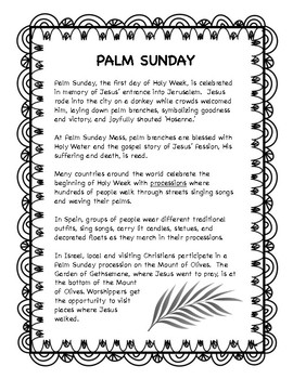 Palm Sunday -- Holy Week resource