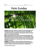 Palm Sunday - Informational Article  facts History questions vocab around world