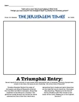 Palm Sunday Newspaper Article