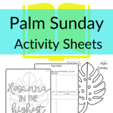 Palm Sunday Printable Activities for Sunday School  (Print & Go!)