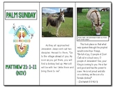 Palm Sunday Trifold Mini Story about Matthew 21 1-11