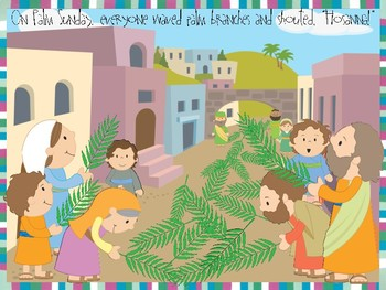 Palm Sunday craft and color sheet