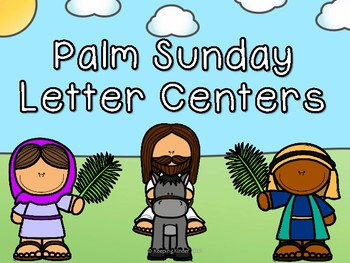 Palm Sunday themed letter practice