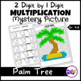 Palm Tree 2 Digit by 1 Digit Multiplication Mystery Pictur