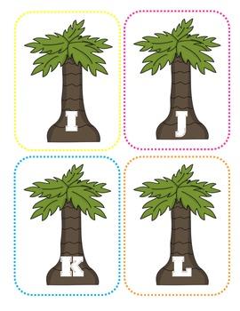 Palm Tree Capital Alphabet Flash Cards