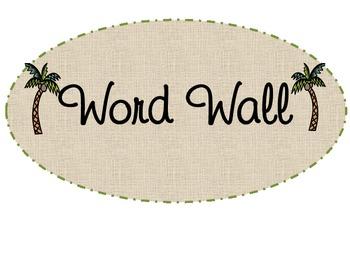 Palm Tree Word Wall