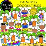 Palm Tree and Coconut Buds {Summer Clipart}
