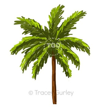 Palm Tree - palm tree clip art, beach art Printable Tracey