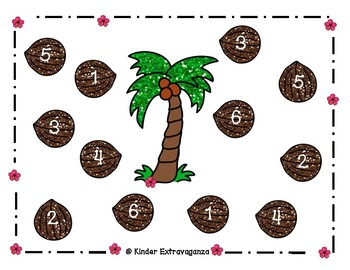 Palm Trees and Monkeys Math and Literacy Centers