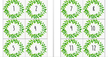 Palm leaf classroom labels bundle