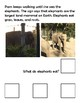 Pam's Trip to the Zoo (Wh Comprehension Question) Adapted Book lvl 2