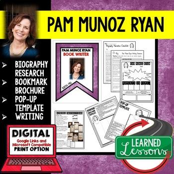 Pam Munoz Ryan Biography Research, Bookmark, Pop-Up, Writing