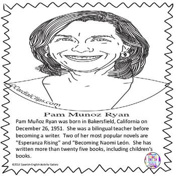 Pam Munoz Ryan Coloring Page