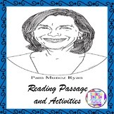 Pam Munoz-Ryan Reading Passage and Activities