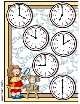 Pampered Pets Telling Time File Folder Game Book