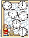 Pampered Pets Telling Time File Folder Game Book
