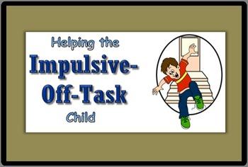 Impulsive/ Off Task Help - Foldable Pamphlet