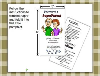 Secrets of a SUPER PARENT - Foldable Pamphlet