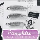 Pamphlet Syllabus *EDITABLE