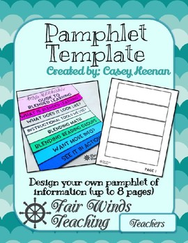 Pamphlet Template (editable)