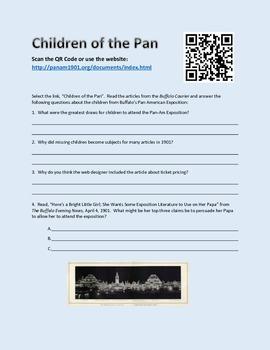 Pan American Exposition - QR Code Activity - Freebie - Chi