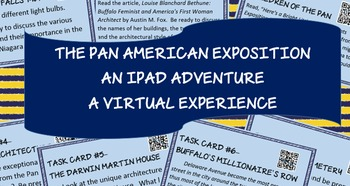 Pan American Exposition - QR Code Webquest - Task Cards - middle/high school