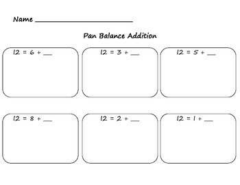 Pan Balance Addition
