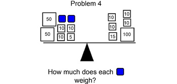 Pan Balance Problems multiplication and division # 2