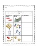 Pan Balance Weight Worksheet/Record Sheet