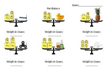 Pan Balance Worksheet