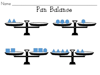 Pan Balance with Shapes