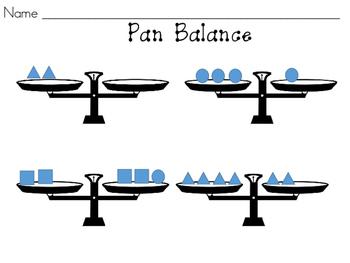 Pan Balance with Shapes