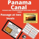 Panama Canal Boom™ Cards™ passage and comprehension questi