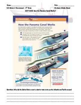 Panama Canal Handout and Lesson Plan - PDF File