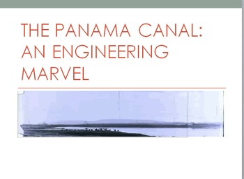 Panama Canal Partially Animated PowerPoint Presentation and Test Worksheets