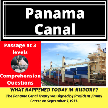 Panama Canal Treaty Differentiated Reading Passage, September 7