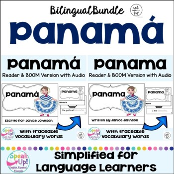 Panama Readers & vocab pages in English & Spanish {Bilingual bundle~ Panamá}
