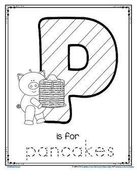 Pancake Day 2018 February 13th FREE Letter P Trace and Color Printable