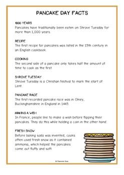 Pancake Day Fact Cards