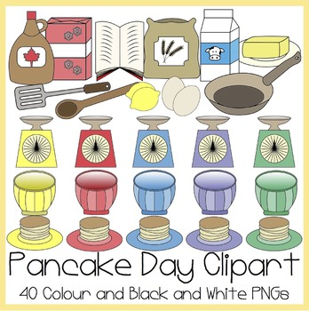Pancake Day / Shrove Tuesday Clipart