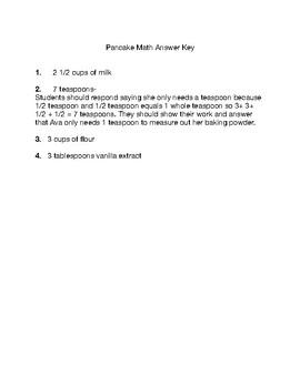 Pancake Fraction Math
