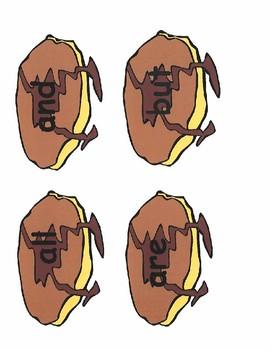 Pancake Fry Sight Words