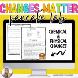 Pancake Lab - Chemical and Physical Changes to Matter Science Cooking Activity